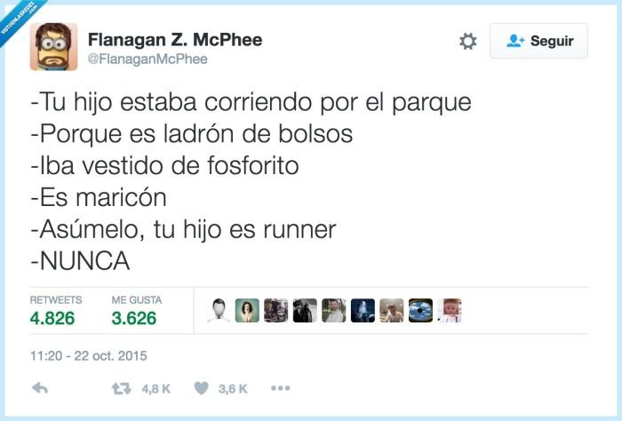 hijo,runner,vergüenza