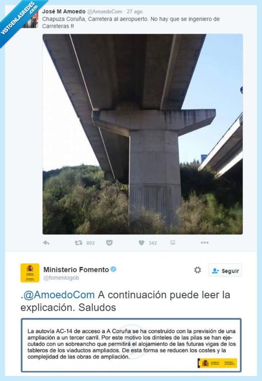 carretera,coruña,puente,tercer carril