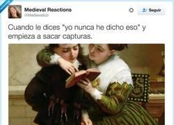 Enlace a No sé de qué me hablas, por @Medievalico