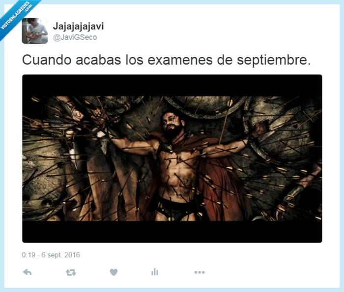 exámenes,Leónidas,septiembre,sufrimiento