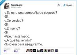 Enlace a Por estar seguro, por @Frenopatix