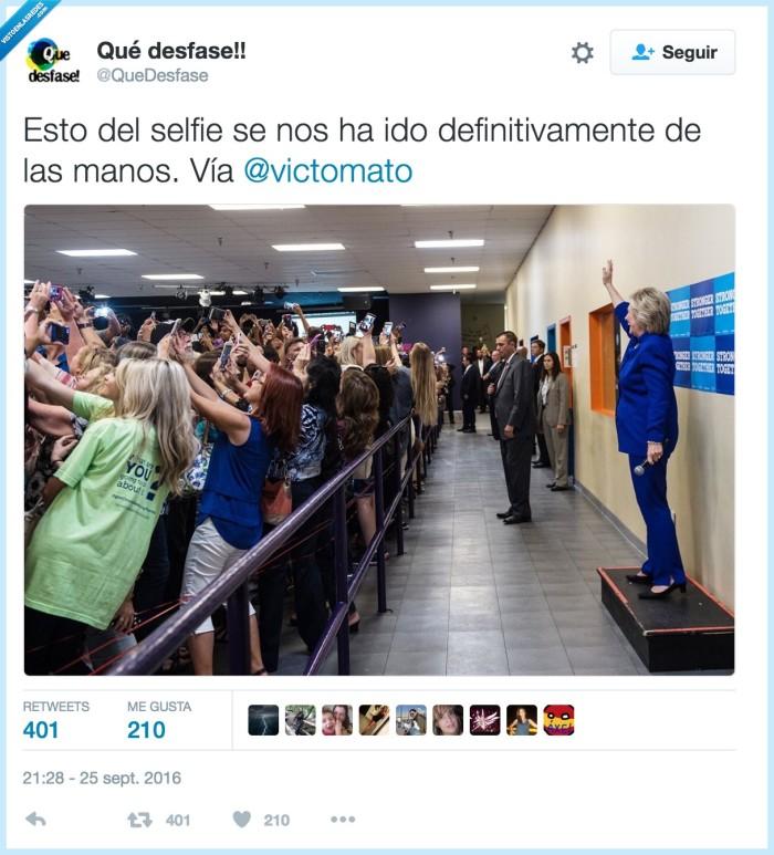 hillary clinton,selfies