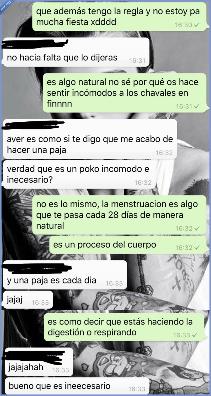 hombres,menstruación,mujeres