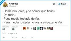 Enlace a Media tostada de ñu, por @kezeyo