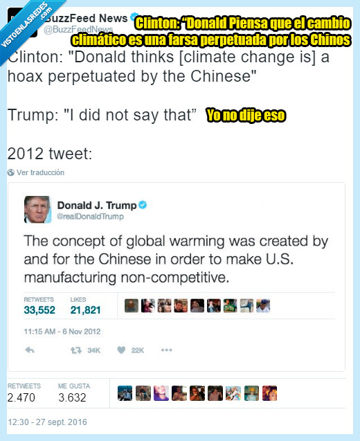 cambio climático,chinos,trump