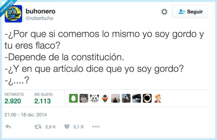 constitución,flaco,gordo