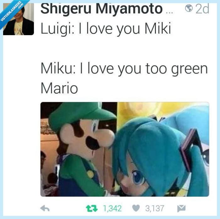luigi,mario verde,miyamoto,nintendo