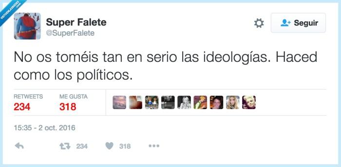 ideología,política