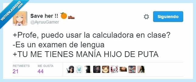 calculadora,colegio,instituto,lengua,Profesor,profesores