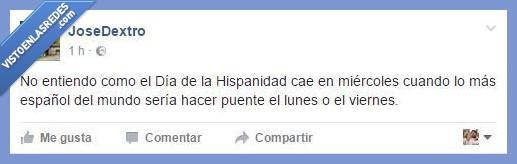 día de la hispanidad,error,españa,facebook,vacaciones