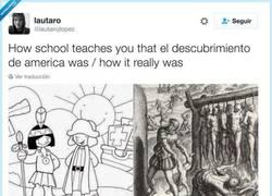 Enlace a Cómo los libros muestran el descubrimiento de América / Como fue de verdad