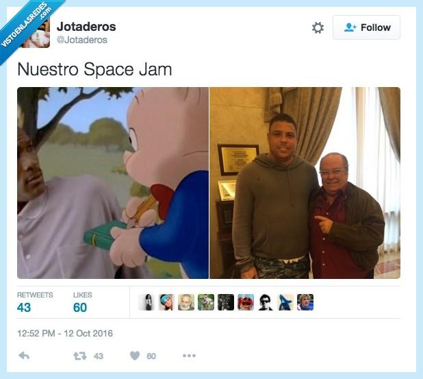 arevalo,michael jordan,porky,ronaldo,space jam