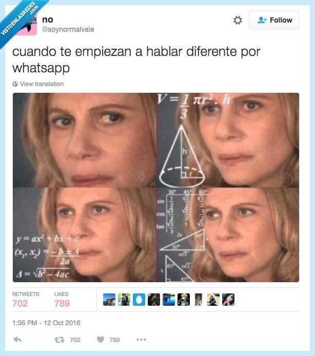 diferente,hablar,whatsapp