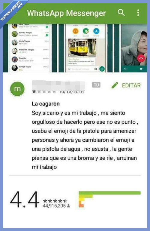 aplicación,pistola,sicario,whatsapp