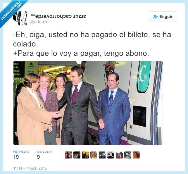 abono,bono,tweet,zapatero