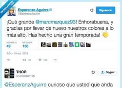 Enlace a Esperanza Aguirre se lleva un buen zasca tras su tweet populista. Por @Chikeeen199