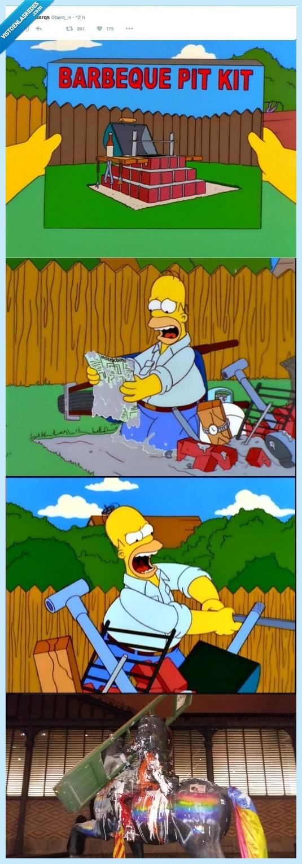 barbacoa,Franco,frustración,Homer