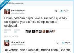 Enlace a Se queja del racismo que sufre pero luego dice esta BARBARIDAD @igualize