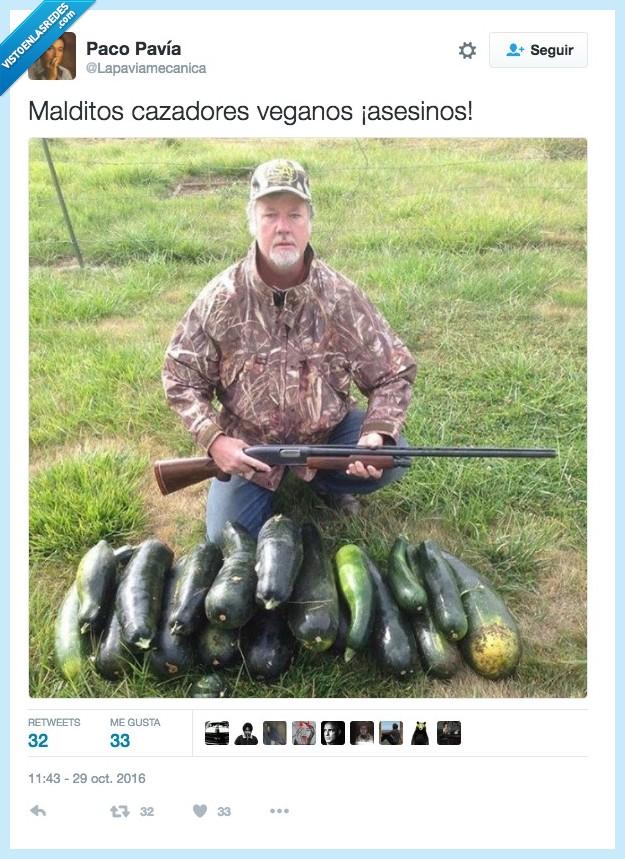 asesino,cacería,vegano