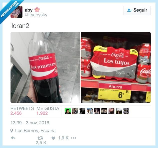 botellas,coca cola,etiquetas