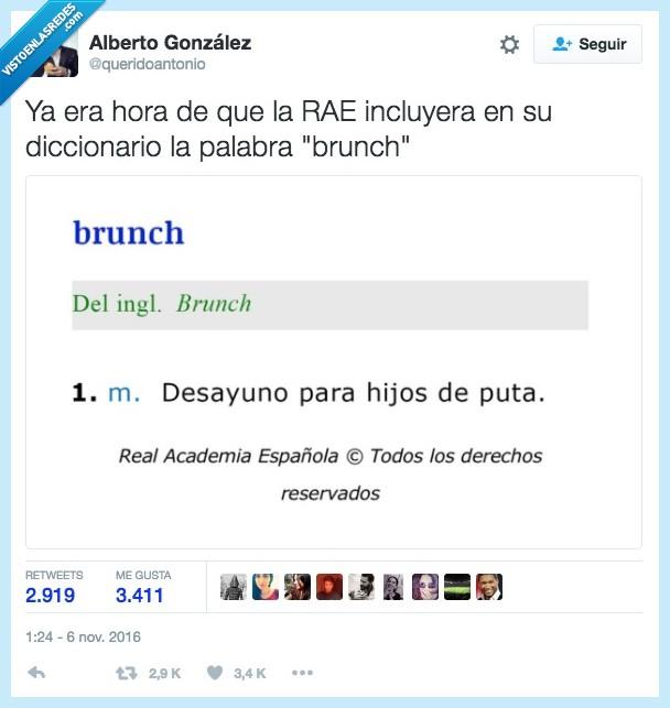brunch,definición,rae