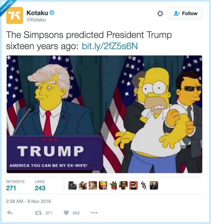 predicción,presidente,simpson,trump
