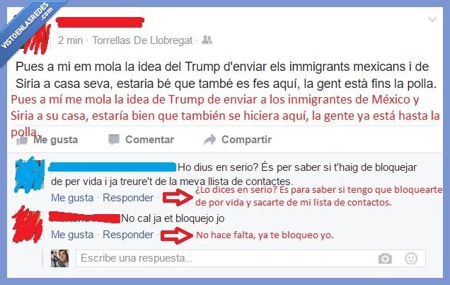 inmigrantes,mexico,miedo y asco en españa,muro,siria,trump