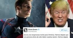 Enlace a Famosos como Chris Evans están en desacuerdo con Trump