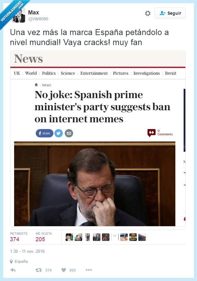 meme,prensa internacional,prohibición,rajoy