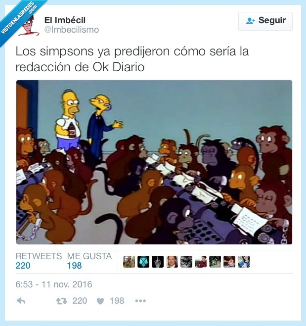 ok diario,predicción,Simpsons