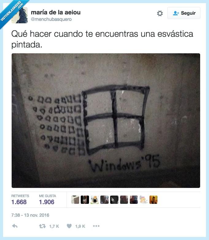 esvástica,grafitti,nazi