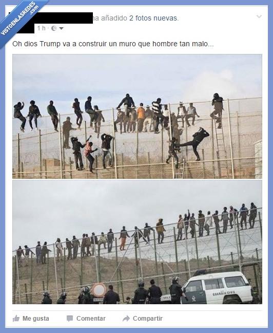 ceuta,España,melilla,Trump,vallas
