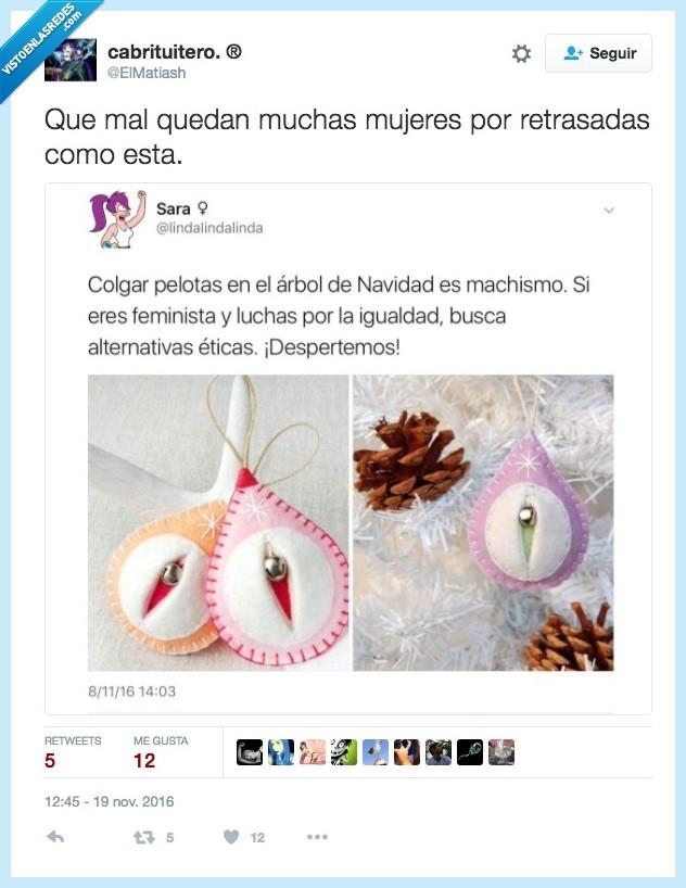 alternativa,bolas,feminismo,navidad