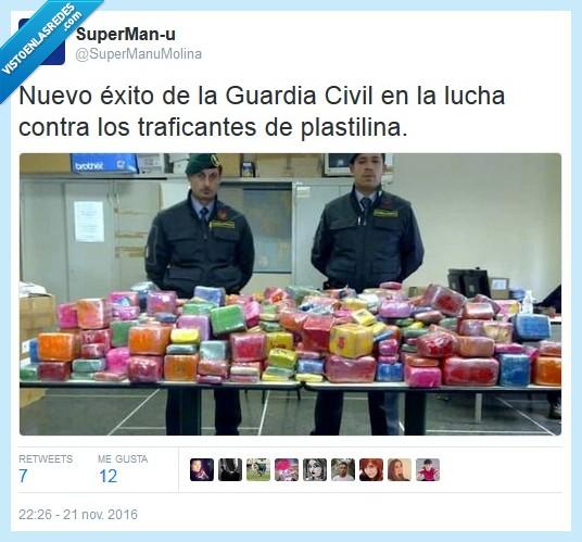 guardia civil,plastilina,traficantes