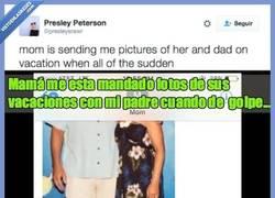 Enlace a Su madre le envía fotos de sus vacaciones y ella descubre que está comiendo con ESTE FAMOSO