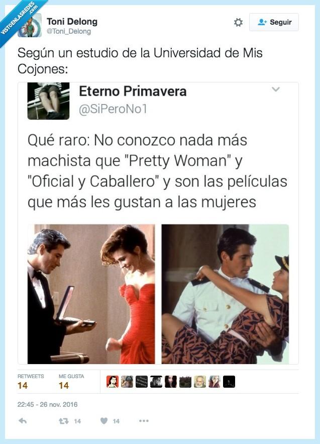 machismo,mujer,oficial y caballero,películas,pretty woman