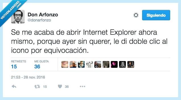 doble clic,equivocación,esperar,Internet Explorer