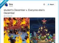 Enlace a Estudiantes en diciembre VS El resto de la gente por @Dory