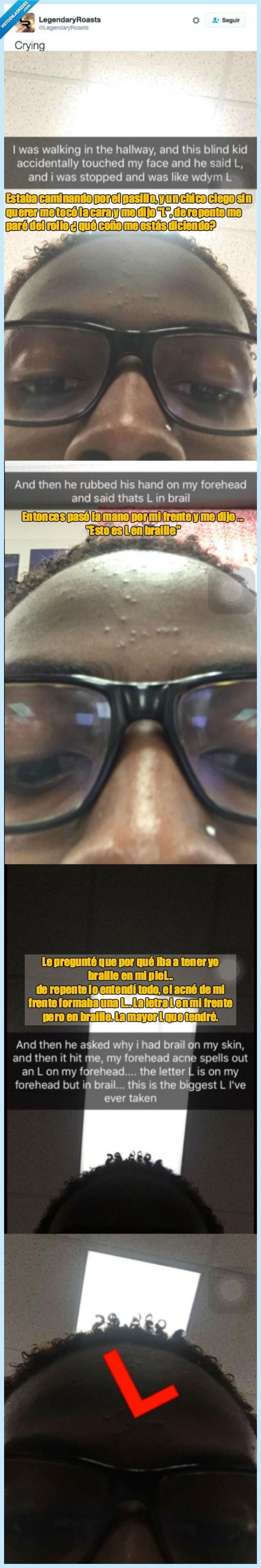 braille,ciego,frente,granos,L