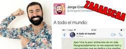 Enlace a Jorge Cremades se disculpa por las declaraciones que hizo y recibe este zasca a nivel MUNDIAL
