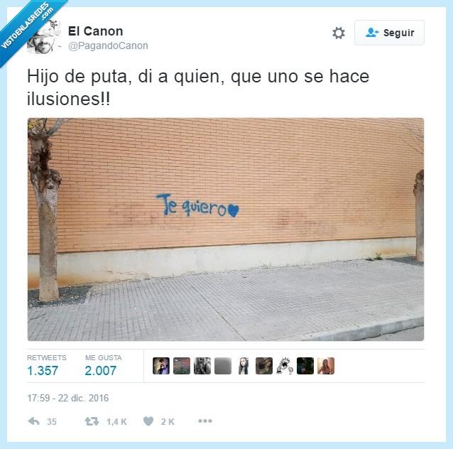 grafitti,mensaje,querer