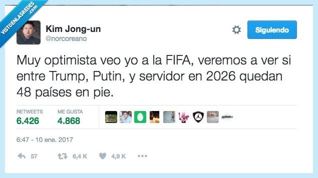2026,fifa,kim jong,mundial,putin,trump