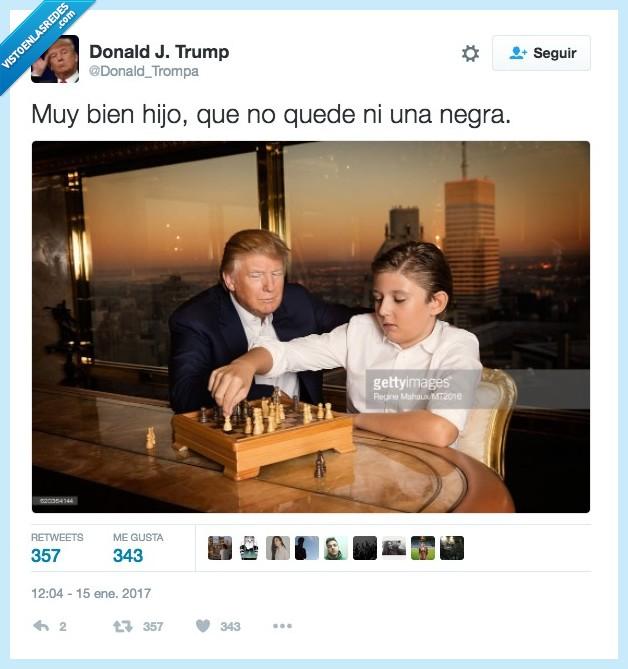 ajedrez,hijo,racismo,Trump