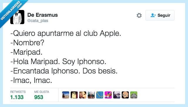 apple,clup,nombre