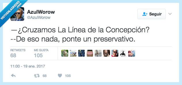 cruzar,Línea de la Concepción,preservativo
