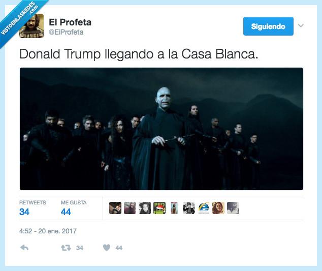 mortífagos,Trump,Voldemort
