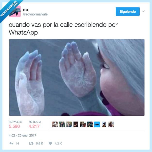 congelar,escribir,frio,whatsapp