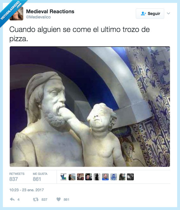 estatua,pizza,último trozo