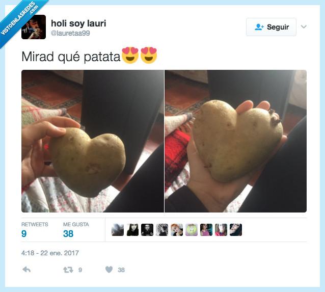 corazón,palpitar,patata