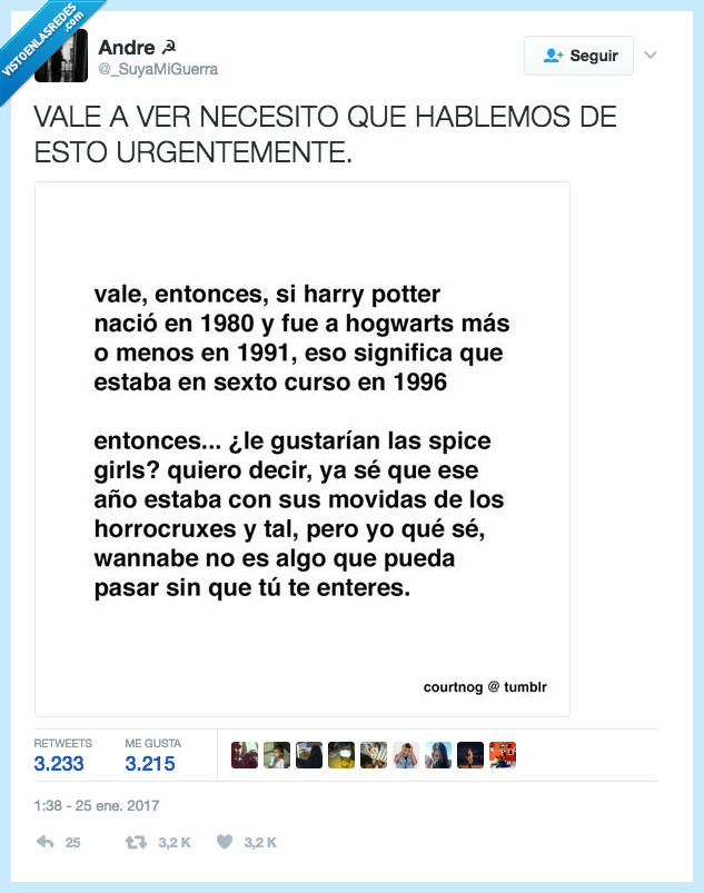 harry potter,relación 1996,spice girl